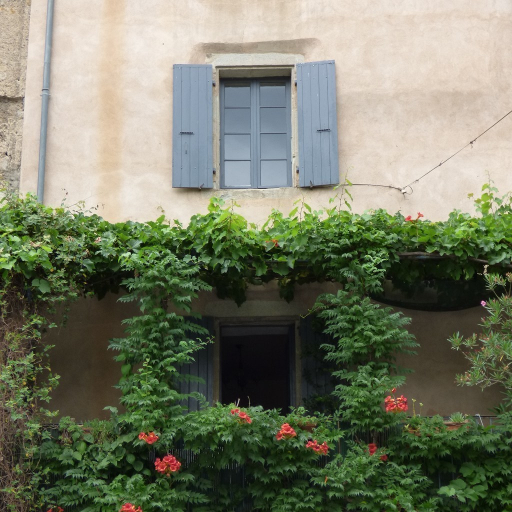 house facade in french village