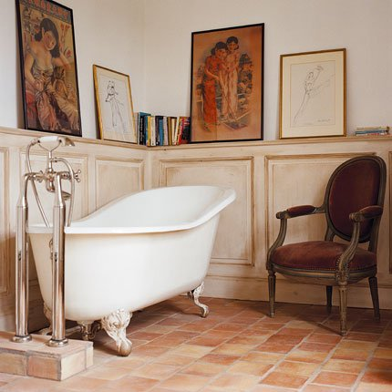 bathroom in a french chateau