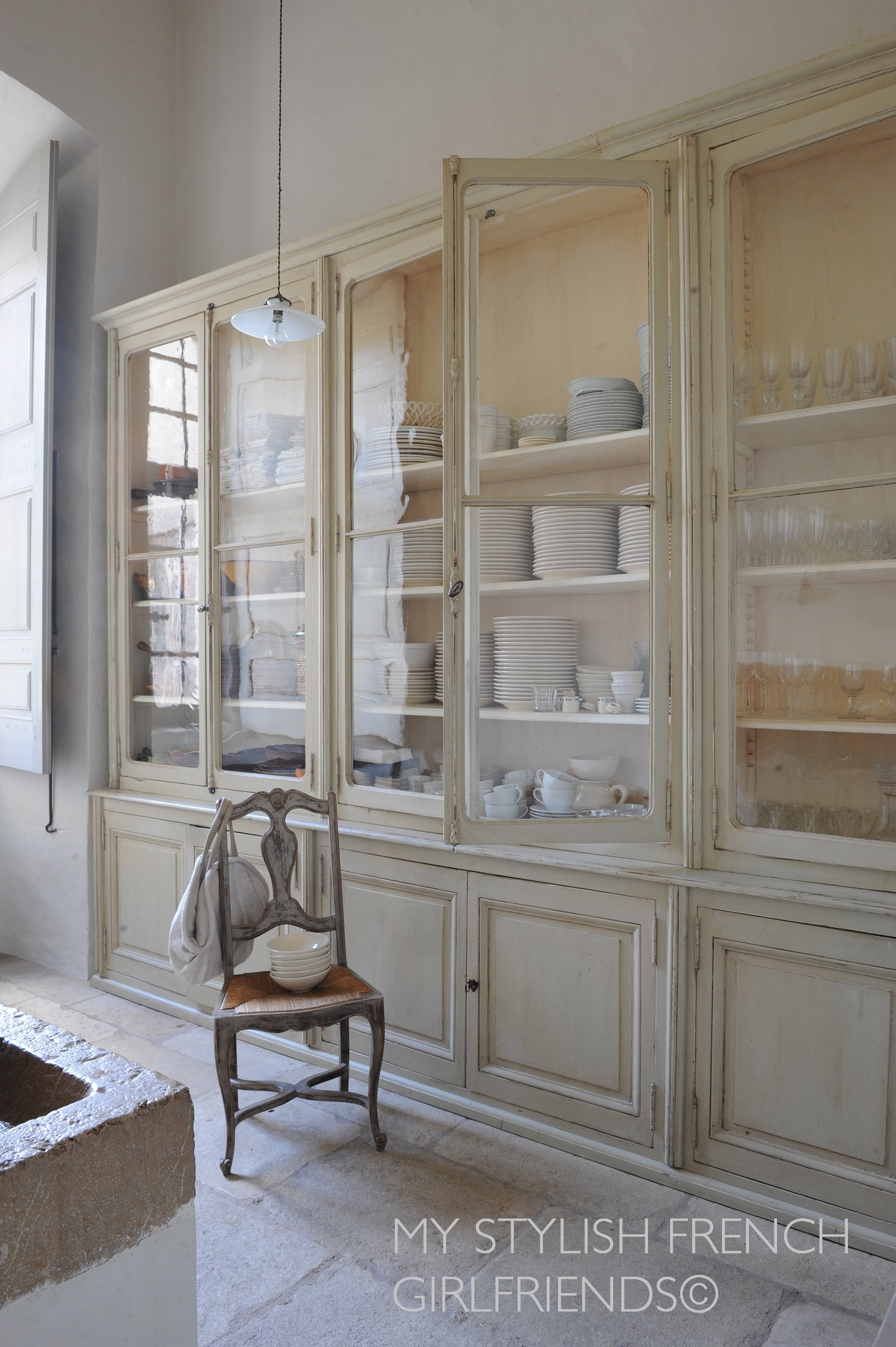scullery in french chateau de moissac