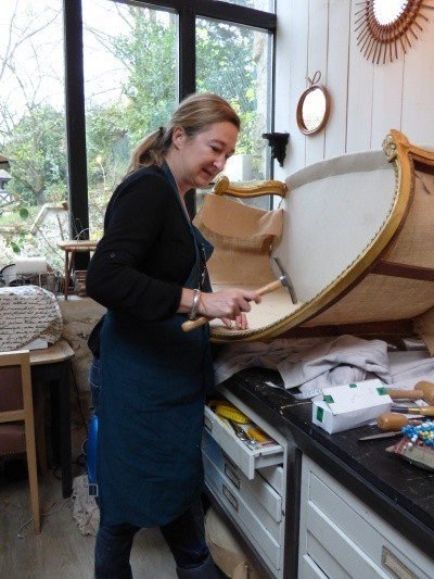 laure pele in her atelier for my french country home
