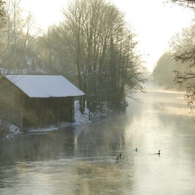 winter on the river
