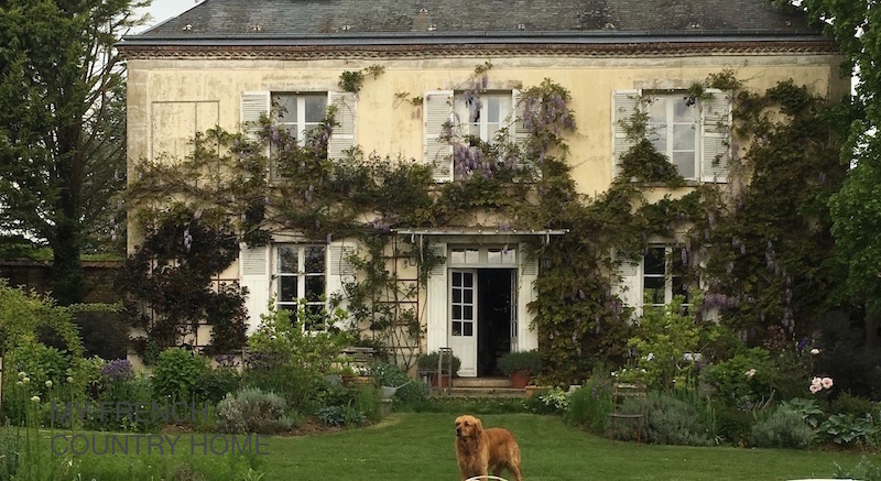 house and garden at my french country home