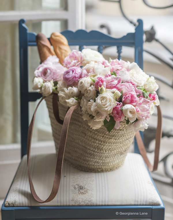 basket flowers paris in bloom