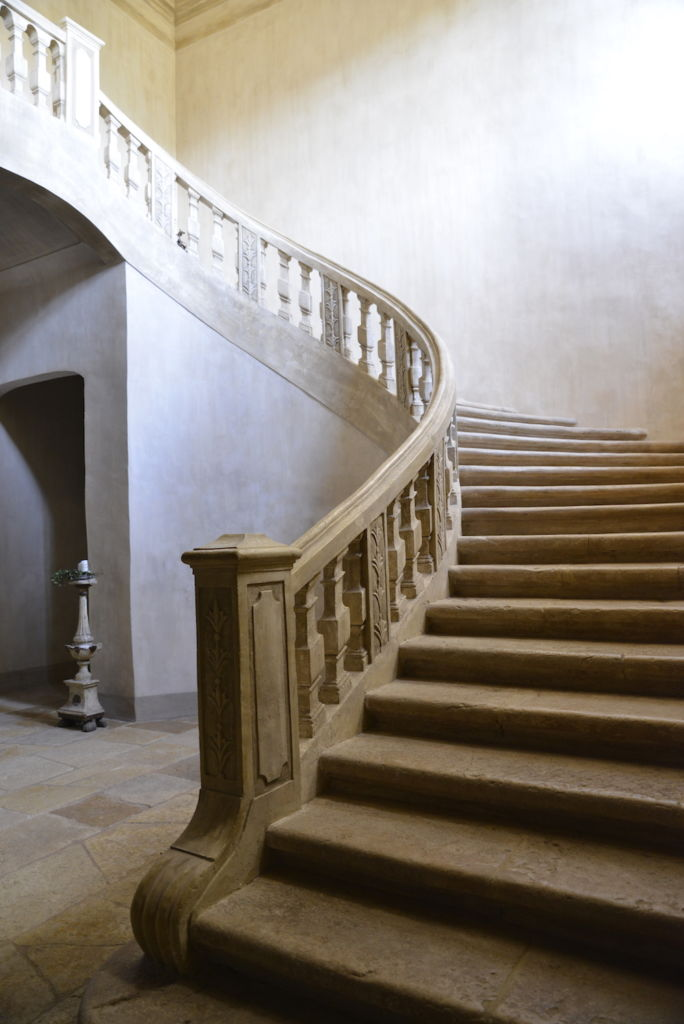stairway chateau de moissac, south of france
